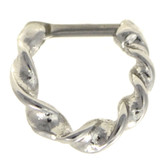 Stainless Steel Twisted Hoop Septum Clicker 16G 1/4""