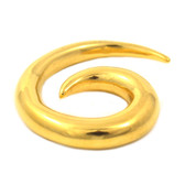 Gold Plated Spiral Ear Tapers Stretchers (12g-0g)
