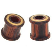 "Sono Wood Tunnels w/Blonde Wood Inlay (0g-1"")"