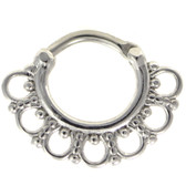 Ornate Design Steel Septum Clicker (16G/14G)