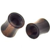 "Organic  Zebrawood Saddle Plugs (2g-1"")"