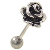 Steel Rose Cartilage Tragus Stud Earring 18g 1/4""