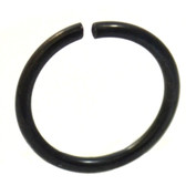 Black Plated Bendable Nose Ring Hoop 18G