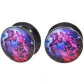 "Galaxy Logo Screw On Acrylic Plugs (2g-1"")"