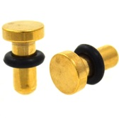 Gold Plated Flat Head Plugs (14g-0g)