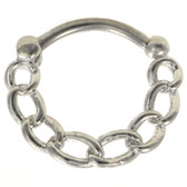 Chain Links Steel Septum Clicker 16G