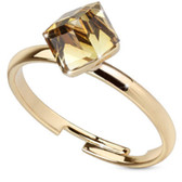 Tan Color Cubed CZ Adjustable Toe Ring/Ring