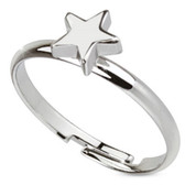 Silver Star Adjustable Toe Ring/Ring