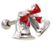 Christmas Bells Steel Cartilage Earring 16g 1/4""