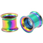 "Rainbow Steel Internally Threaded Tunnels (8g-1"")"