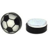 Glow in the Dark Soccer Ball Magnetic Fake Plug Earrings