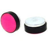 Pink Glow In The Dark Dome Magnetic Fake Plug Earrings