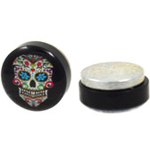 Multi-Color Sugar Skull Magnetic Fake Plug Earrings