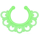 Green Glow In The Dark Ornate Design Fake Septum