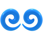 Light Blue Acrylic Spiral Tapers (14g-00g)