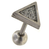 """Sand Glitter Triangle Cartilage Earring 16g 1/4"""""""
