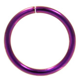 Purple Plated Bendable Nose Ring Hoop 18G