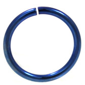 Blue Plated Bendable Nose Ring Hoop 18G