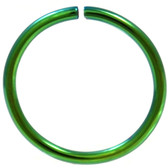 Green Plated Bendable Nose Ring Hoop 18G