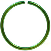 Green Plated Bendable Nose Ring Hoop 20G