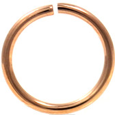 Rose Gold Color Bendable Nose Ring Hoop 18G