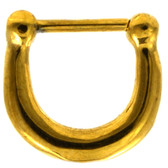 Gold IP Steel Basic Septum Clicker 100% 316L