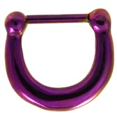 Purple IP Steel Basic Septum Clicker 100% 316L