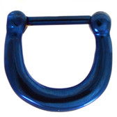 Blue IP Steel Basic Septum Clicker 100% 316L