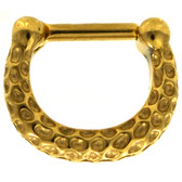Gold IP 100% Steel Septum Clicker w/Indentations