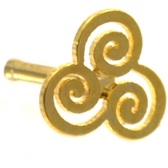 Intricate Trinity Swirl Gold-Tone Nose Ring Stud