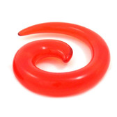Red Acrylic Spiral Tapers (12g-0g)