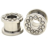 "Steel Beaded Rim Screw Fit Tunnels (2g-13/16"")"