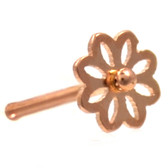 Daisy Flower Rose Gold-Tone Nose Ring Stud 20G