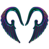 Rainbow Color Angel Wing Acrylic Tapers (14g-2g)