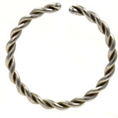 Bendable Steel Twisted Style Nose Ring Hoop (20g-14g)