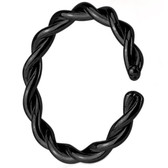 Bendable Black IP Twisted Style Nose Hoop (20g-14g)