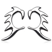 Tribal Claw Stainless Steel Hanger Tapers (14g-2g)