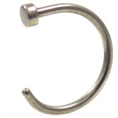Surgical Steel Flat Disc Nose Ring Hoop (22g-18g)