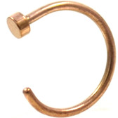 Rose Gold-Tone Steel Nose Ring Hoop (22g-18g)