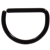 Black Steel D Shaped Ring Annealed 16G