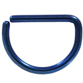 Blue Steel D Shaped Ring Annealed 16G