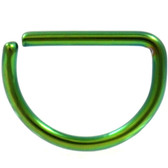 Green Steel D Shaped Ring Annealed 16G