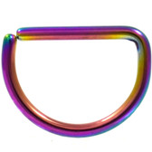 Rainbow Steel D Shaped Ring Annealed 16G