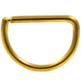 Gold-Tone Steel D Shaped Ring Annealed 16G