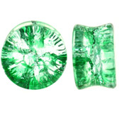 "Green Shattered Glass Style Plugs (0g-1"")"