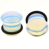 Opalite Stone Single Flared Ear Plugs (6g-5/8)