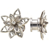"Lotus Flower Clear Accented Petal Plugs (2g-5/8"")"