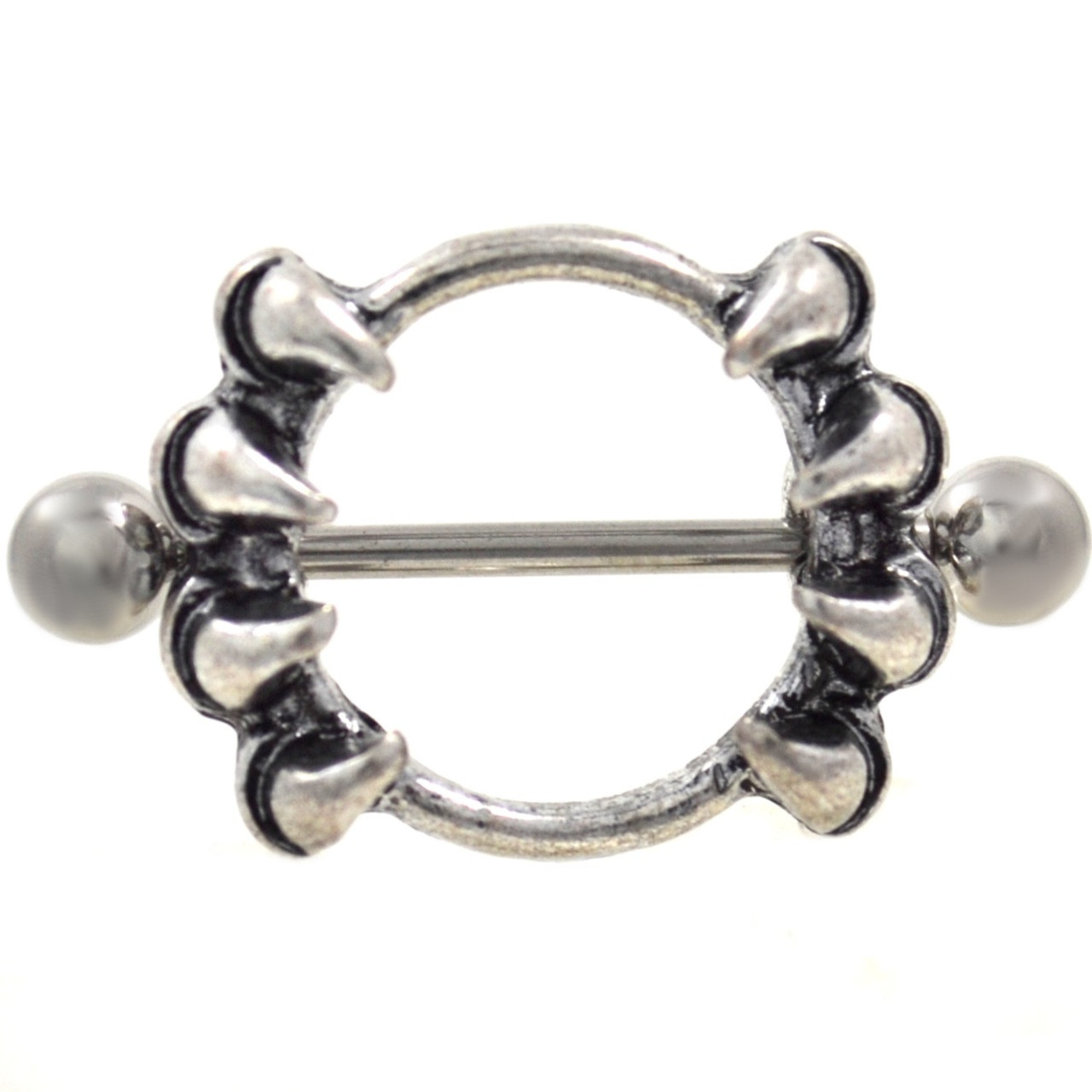 Pair - Wicked Claw Nipple Shield Barbells 14G 78-6944