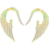 Aurora Borealis Angel Wing Acrylic Tapers (14g-2g)