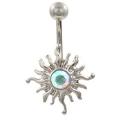 Aurora Tribal Sun Stainless Steel Belly Ring